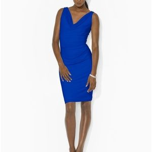 Ralph Lauren blue cowlneck dress